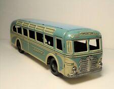 "Vintage Tin Litho Wind Up Tippco Blue & White ""Tippcar - Line"" Bus Tipp Co #915"
