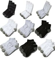 Timberland Men's 3 Pack Socks, Crew Length, Ankle or No Show White, Black Gray