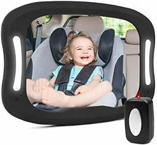 Baby Car Mirror For Back Seat shatter-proof Led Baby Mirror For Car View Infa