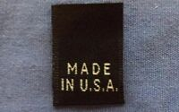 500Pcs Black Woven Clothing Size Tab Labels Made In U.S.A NO SIZE