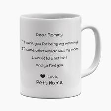 Dog Mom Mug Coffee Cup Personalised Named 11 oz Funny Pet Mug Dog Mommy m25