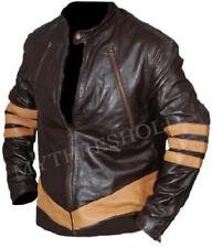 X-Men Wolverine Logans Hugh Jackman Leather Jacket Vintage Biker Style