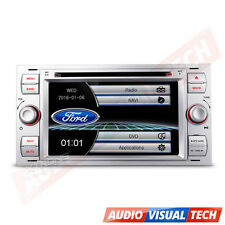 "XTRONS 7"" Ford Focus Kuga Fiesta Transit GPS Car Radio DVD Stereo Player Silver"