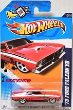HOT WHEELS 2012 MUSCLE MANIA - FORD '73 FORD FALCON XB RED