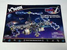 KNEX INSTRUCTION MANUAL ONLY 15118 International Space Station Building Set Book