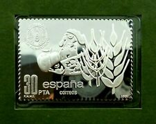 Spain 30 Pta stamp 1981 MNH with Silver issue + FDC World Food Day (T70)