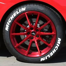 "Permanent TireLetters - MICHELIN - 1.5"" For 17"" 18"" Wheels (8 Stickers) White"