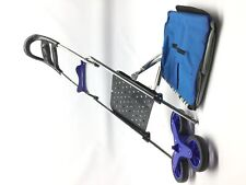2018 Upgraded Folding Shopping Cart Stair Climbing Cart with Quiet Rubber Tri-Wh