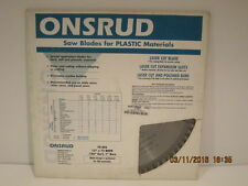 """ONSRUD-70-406 12"""" SAW BLADE FOR PLASTIC MATERIALS-Free Shipping! NEW SEALED PACK"""