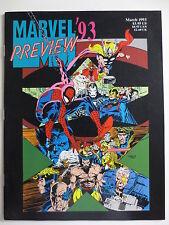Marvel '93 Preview (March 1993) Magazine Spiderman X-Men Avengers (M840)