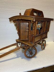Hand Made - Incredibly Detailed - Wooden Gypsy Caravan - One of a Kind!