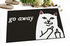 """Funny Cat Go Away Mats 15X23"""" Bedroom Shower Room Floor Non-Slip Bath Mat Rugs"""