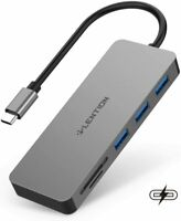 LENTION USB C Hub to USB 3.0 PD Adapter SD/TF Card Reader for MacBook iPad Pro