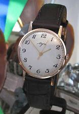 Luch 14 k Rose Gold Watch  calibre 2209 serviced  russian  cccp  Serial 114213