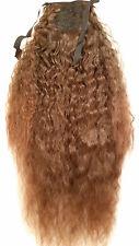"Kinky Straight Wave Synthetic Hair Piece Ponytail 22"" Medium Brown/Auburn Mix"