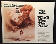 Original 1978 Who'll Stop the Rain Half Sheet Movie Poster 22 x 28 Nick Nolte