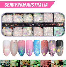 12 Styles Holographic Laser Nail Sequins Flake Confetti Art Decoration Thin 4034