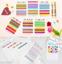 Color Date Decor Sticker 12EA Diary Planner Scrapbook Calendar Point Icon Index