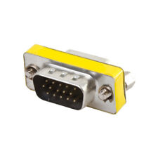 VGA SVGA 15 Pin Male To Female M/F Plug Coupler Gender Changer Adapter Connecter