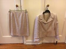 Tahari - Women's Missy Jacquard Skirt & Blazer (Size 8 -  Champagne) New w/tags