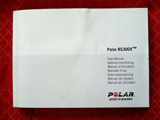 Polar RS300X  - manuel d ' utilisation - user manuel - 7 langues