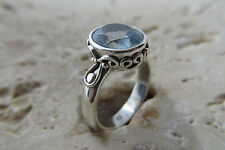 Size 7, Size N 1/2, Size 54, Blue TOPAZ Ring in solid 925 STERLING SILVER #0017
