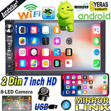 """Android Quad Core 7"""" Double 2DIN GPS WiFi Car Stereo MP5 Radio Player & Camera"""