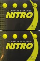 Nitro Ultimate Distance Golf Balls Yellow (*Set of 2* Dozen Ball Packs-24 Balls)