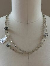 "gold chain necklace sparkle crystal disco balls 40"" worn long or short NEW bling"