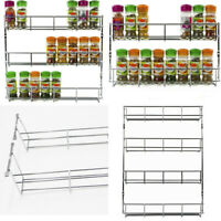 1-6 Tier Kitchen Spice Rack Cabinet Organizer Wall Mount Storage Shelf Holder