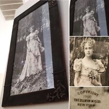 Antique Victorian Scenic Photo Art Copyright 1900 New York Beautiful Woman