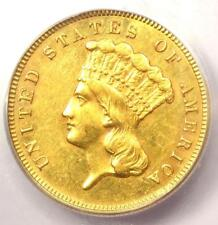 1885 Three Dollar Indian Gold Coin $3 - Certified Icg Au58 - $5,160 Value!