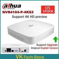 Dahua 4K 4CH OEM NVR 4POE NVR4104-P-4KS2 1U H.265 Lite Network Video Recorder