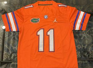 Florida Gators Kyle Trask # 11 Jersey Orange Stiched QB Size S