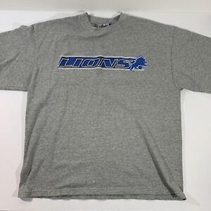 Majestic Detroit Lions Corton Knit Gray Short Sleeve Shirt