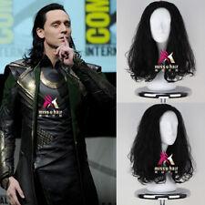 The Avengers Loki Wig Men's Long Curly Black Movie Anime Cosplay Wig