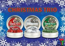 Crazy Aaron's Thinking Putty Christmas Trio Silver Bells Ornament Holiday Lights