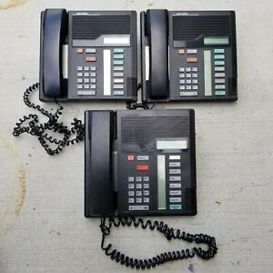 A Lot of 3 MERIDIAN - M7208 - Business Office Desk Telephones - NT8B30