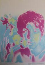 """""""Paul McCARTNEY (BEATLES)"""" Affiche originale entoilée Richard AVEDON 54x75cm"""