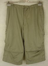 Tolle sportliche NIKE Cargo Sport Hose, Shorts Bermuda oliv Gr L = 40-42