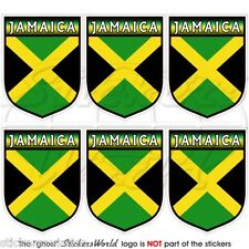 JAMAICA Jamaican Shield Carribean 40mm Mobile Cell Phone Mini Stickers-Decals x6