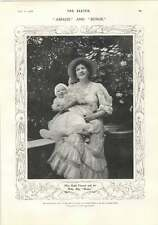 1906 Miss Ruth Vincent And Her Baby Boy Budge