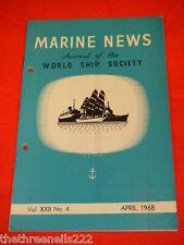 MARINE NEWS - APRIL 1968 VOL XXll # 4