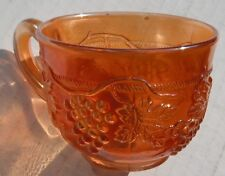 Grape + Cable....punch cup---Marigold---G...vintage Northwood carnival glass