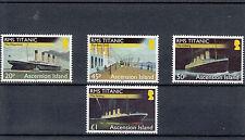 Ascension Island 2012 MNH 100th Anniv Loss RMS Titanic 4v Set Boats Ships