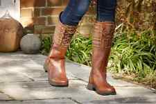 Dublin Thames Boots Red Brown Ladies 8.5