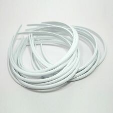 Wholesale LOT 7mm 100 pieces White HEADBAND PLASTIC HAIR BAND accessories