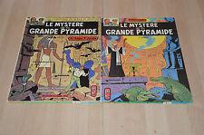 lot 2 BD Le mystère de la Grande Pyramide tomes 1 et 2 - Blake et Mortimer