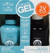 Sally Hansen Miracle Gel 2 Step Top Coat & Gel ~Carry On Blue 660~ Color Polish