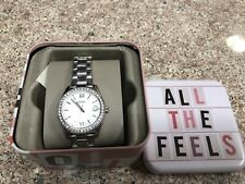 NEW With Box Fossil Women's Scarlette Date Stainless Steel Watch ES4317 $105